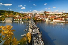 Prague Castle with the Lesser Town extramural settlement and the Charles Bridge, photo by: Libor Sváček, archiv Vydavatelství MCU