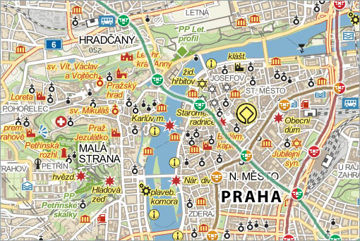 Prague on the map, City, source: Vydavatelství MCU s.r.o.