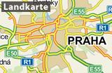 Prag auf der Landkarte_DE, Bildquelle: mapy.cz
