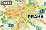 Prague sur la carte_FRA, source: mapy.cz