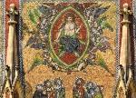 Detail mozaiky s Posledním soudem na Zlaté bráně katedrály (1366 - 67), foto: Libor Sváček, archiv Vydavatelství MCU s.r.o.